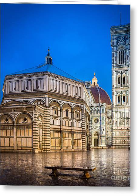 Dome Greeting Cards - Firenze Duomo Greeting Card by Inge Johnsson