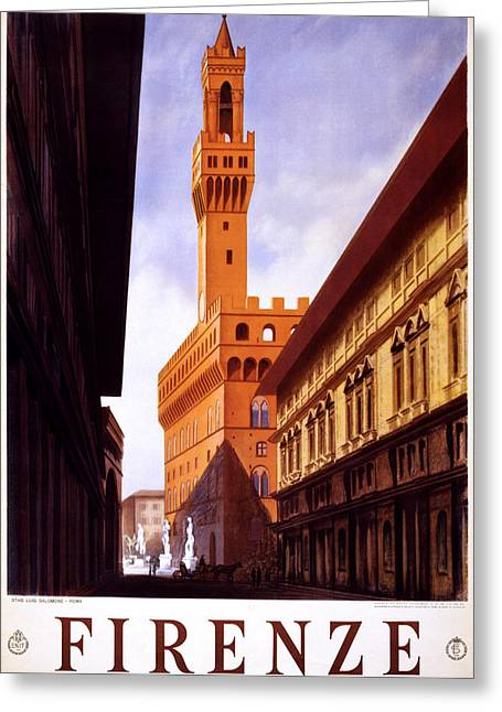 Italian Sunset Greeting Cards - Firenze Italy Greeting Card by Nomad Art And  Design