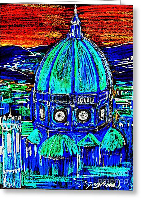 Florence Jewelry Greeting Cards - Firenze Santa Maria del Fiore Greeting Card by Roberto Gagliardi