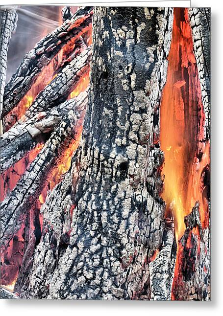 Embers Greeting Cards - Fires of Hell Greeting Card by JC Findley