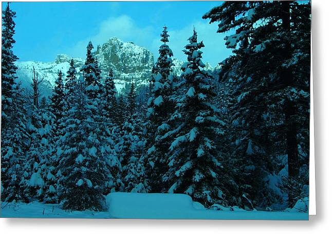 Snow-covered Landscape Greeting Cards - Fires Peak Greeting Card by Jeff  Swan