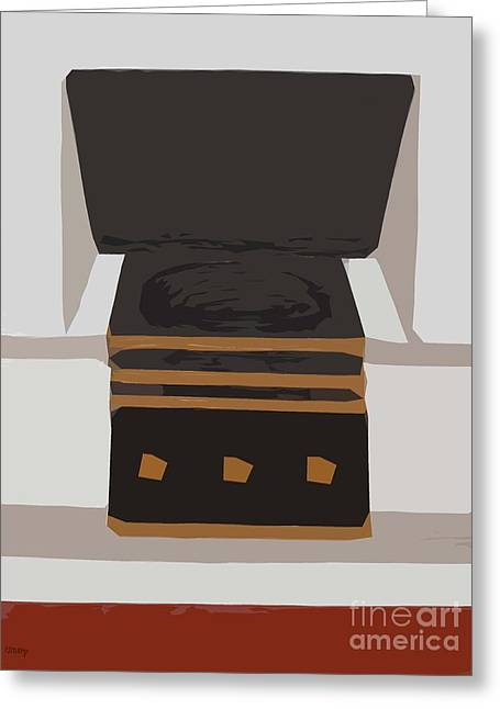 Fireside Without You Greeting Card by Patrick J Murphy