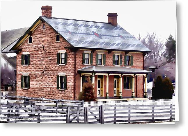 Michigan Farmhouse Greeting Cards - Firestone Farmhouse Greeting Card by Christopher Grove