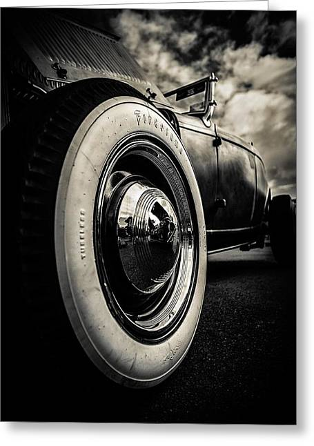 Ford Hotrod Greeting Cards - Firestone Ford Roadster Greeting Card by motography aka Phil Clark