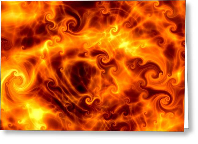 Firestorm Greeting Cards - Firestorm Greeting Card by Hakon Soreide