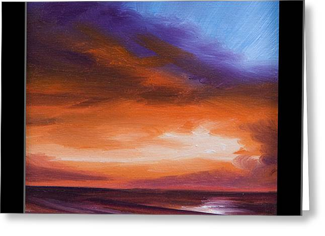 Pirates Paintings Greeting Cards - Firesun Sky Greeting Card by James Christopher Hill
