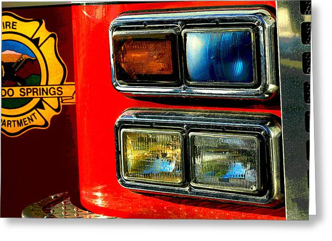 Brigade Greeting Cards - Firetruck Greeting Card by Mike Flynn