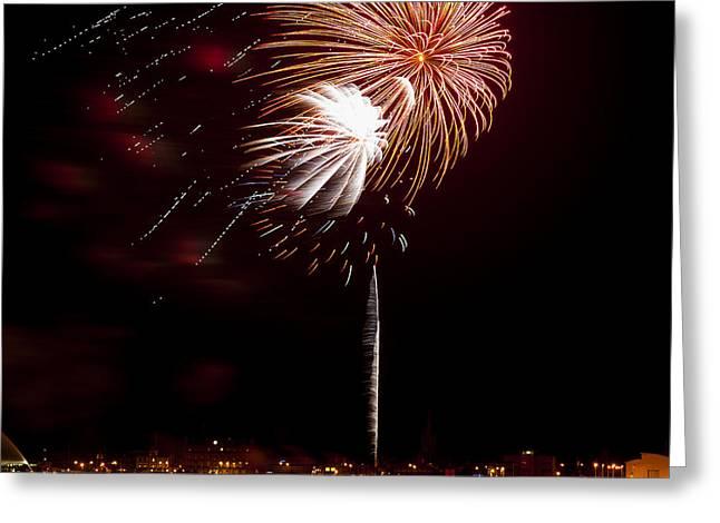 Twinkle Greeting Cards - Firework 01 Greeting Card by Svetlana Sewell