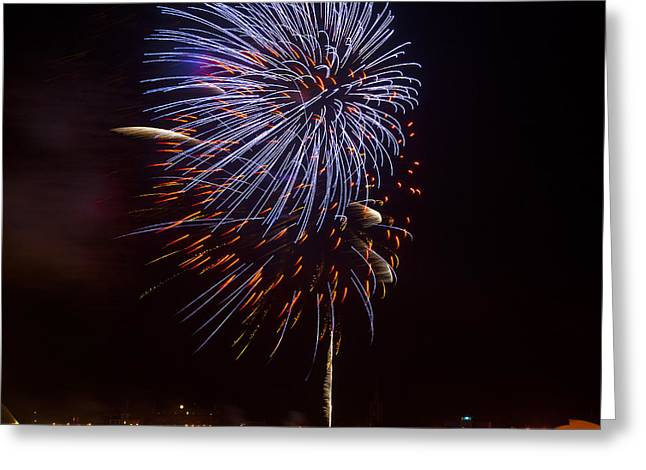 Abstract Style Greeting Cards - Firework 02 Greeting Card by Svetlana Sewell