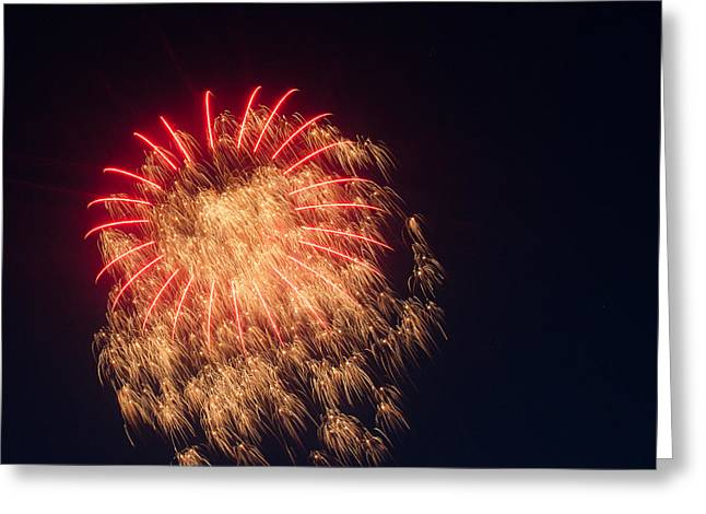 July 4th Pyrography Greeting Cards - Firework 4 Greeting Card by David Nace