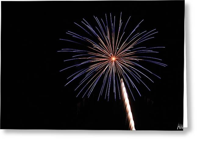 Fireworks Prints Greeting Cards - Firework Greeting Card by Andrew Nourse