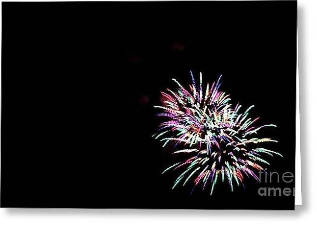 July 4th Pyrography Greeting Cards - Firework Greeting Card by Anthony Pearson