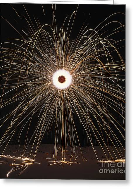 Pyrotechnics Greeting Cards - Firework Going Off Greeting Card by Dorling Kindersley