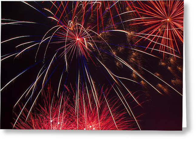 Firework Majesty  Greeting Card by Garry Gay