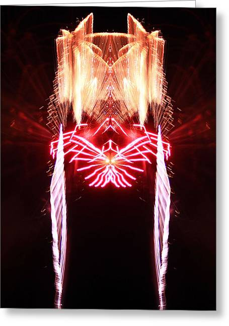 Purple Fireworks Greeting Cards - Firework Reflection Greeting Card by Dan Sproul