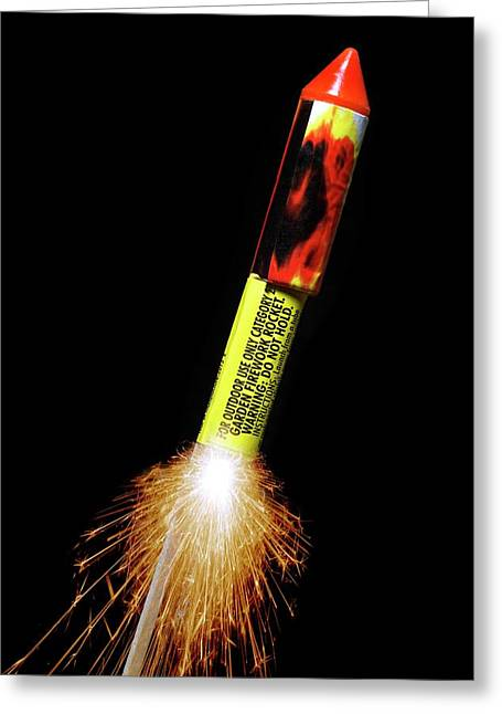 Firework Greeting Card by Victor De Schwanberg