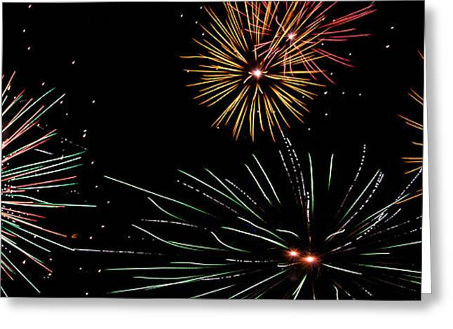 Pyrotechnics Greeting Cards - Fireworks 01 Greeting Card by Heather Provan