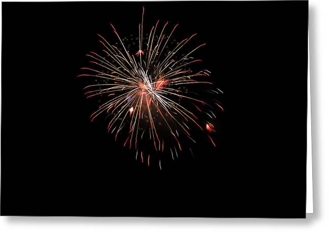4th July Photographs Greeting Cards - Fireworks 1 Greeting Card by Marilyn Hunt