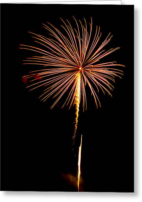 Cheap Abstract Art Greeting Cards - Fireworks 10 Greeting Card by Paul Freidlund