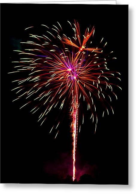Cheap Abstract Art Greeting Cards - Fireworks 11 Greeting Card by Paul Freidlund