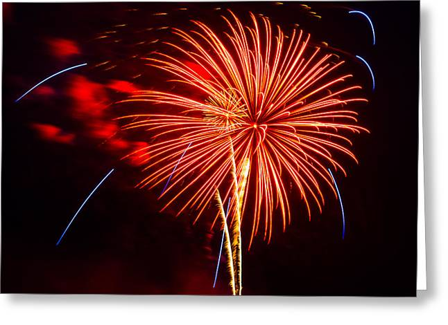 Cheap Abstract Art Greeting Cards - Fireworks 13 Greeting Card by Paul Freidlund