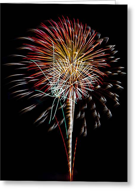 Cheap Abstract Art Greeting Cards - Fireworks 14 Greeting Card by Paul Freidlund