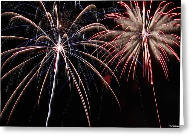 4th July Photographs Greeting Cards - Fireworks 2 Greeting Card by Andrew Nourse