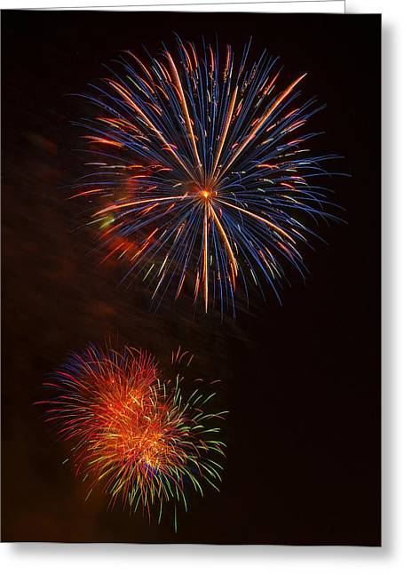 Independence Day Digital Art Greeting Cards - Fireworks 2 Greeting Card by Chris Flees