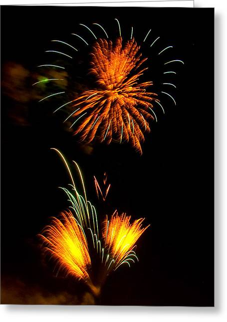 Independence Day Digital Art Greeting Cards - Fireworks 3 Greeting Card by Chris Flees