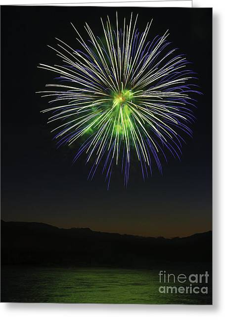 Pyrotechnics Greeting Cards - Fireworks 3 Greeting Card by Sonya Lang