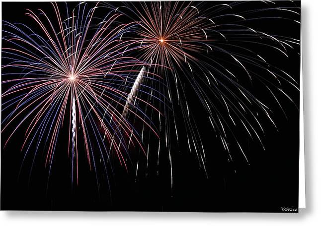 4th July Photographs Greeting Cards - Fireworks 4 Greeting Card by Andrew Nourse