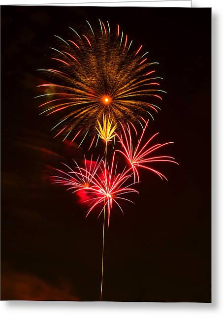 Independence Day Digital Art Greeting Cards - Fireworks 4 Greeting Card by Chris Flees