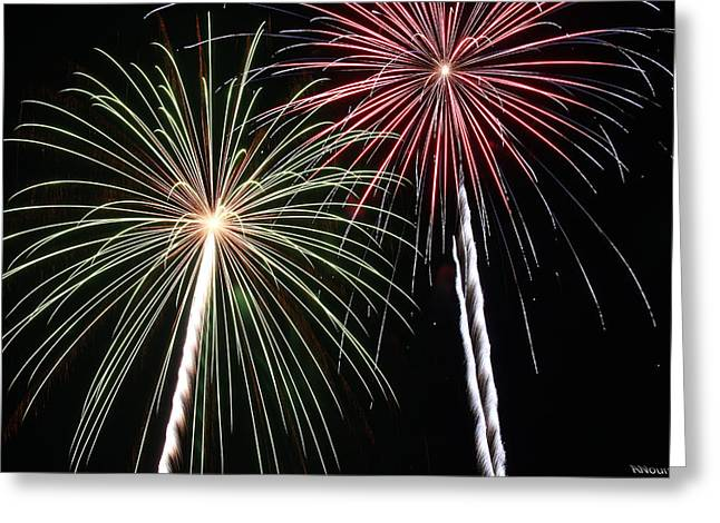 4th July Photographs Greeting Cards - Fireworks 5 Greeting Card by Andrew Nourse