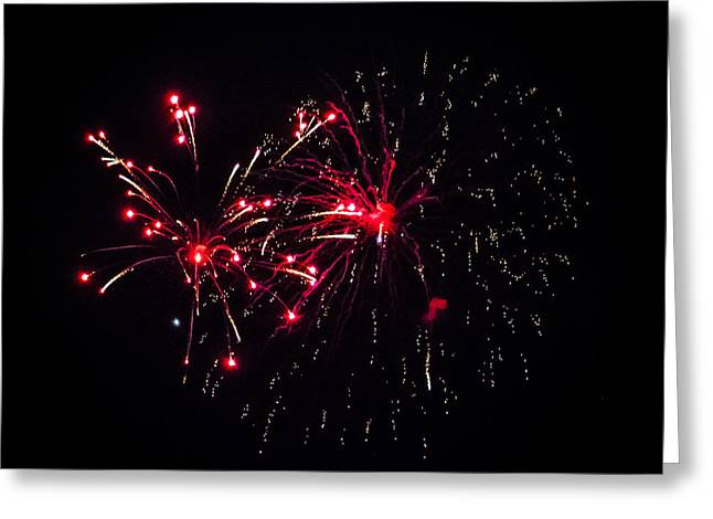 Fireworks 5 Greeting Card by Black Brook Photography