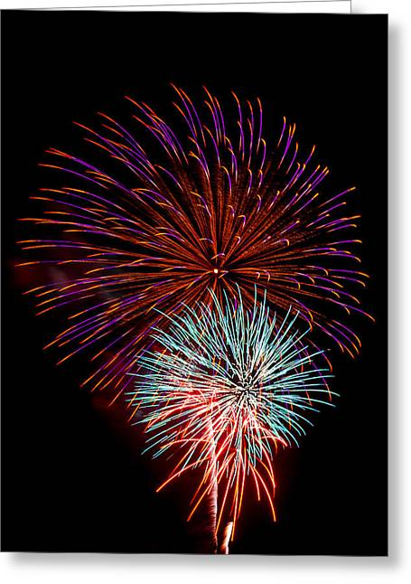 Cheap Abstract Art Greeting Cards - Fireworks 5 Greeting Card by Paul Freidlund