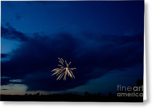4th July Photographs Greeting Cards - Fireworks 6 Greeting Card by Cassie Marie Photography