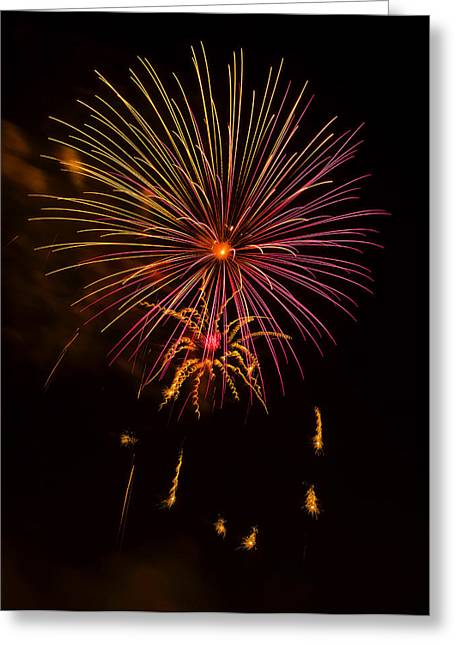 Independence Day Digital Art Greeting Cards - Fireworks 6 Greeting Card by Chris Flees