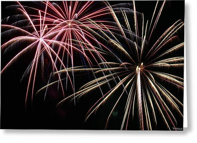 Fireworks Prints Greeting Cards - Fireworks 7 Greeting Card by Andrew Nourse