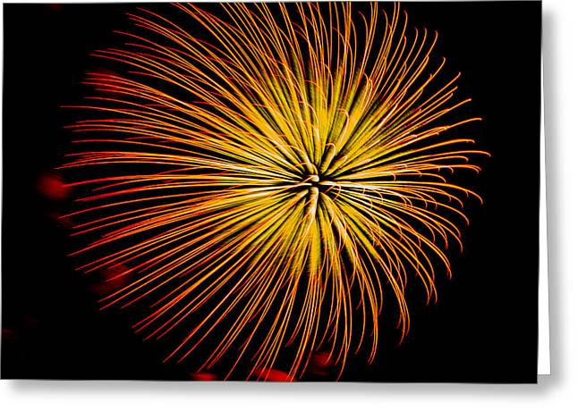 Cheap Abstract Art Greeting Cards - Fireworks 7 Greeting Card by Paul Freidlund