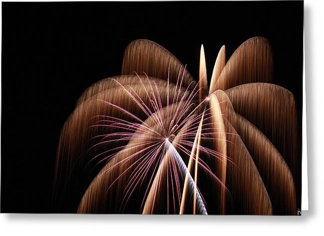 Fireworks Prints Greeting Cards - Fireworks 8 Greeting Card by Andrew Nourse