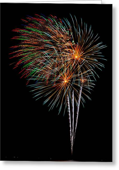 Cheap Abstract Art Greeting Cards - Fireworks 8 Greeting Card by Paul Freidlund