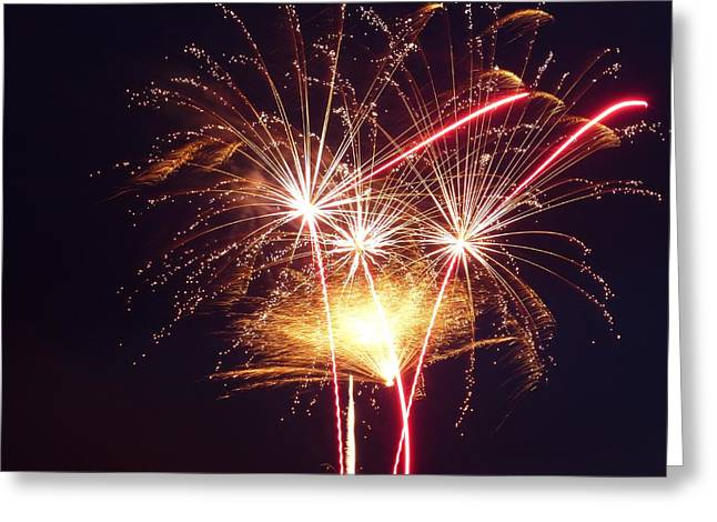 4th July Digital Greeting Cards - Fireworks 8x10 Greeting Card by Toby McGuire
