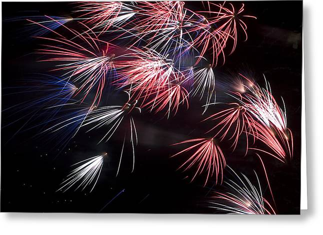 Fireworks 9 Greeting Card by Sandy Swanson
