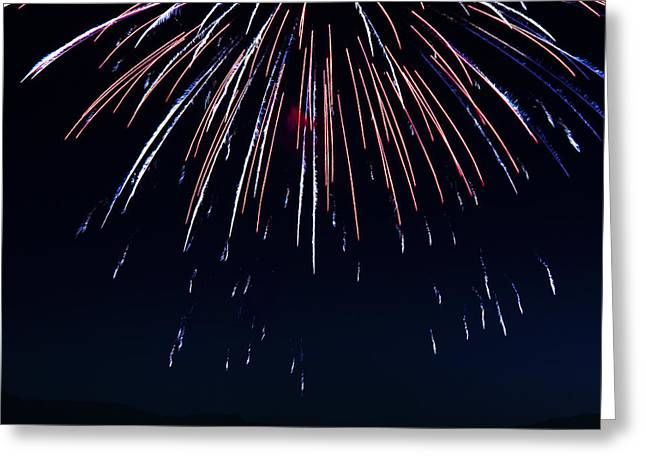 4th July Photographs Greeting Cards - Fireworks 9 Greeting Card by Sonya Lang