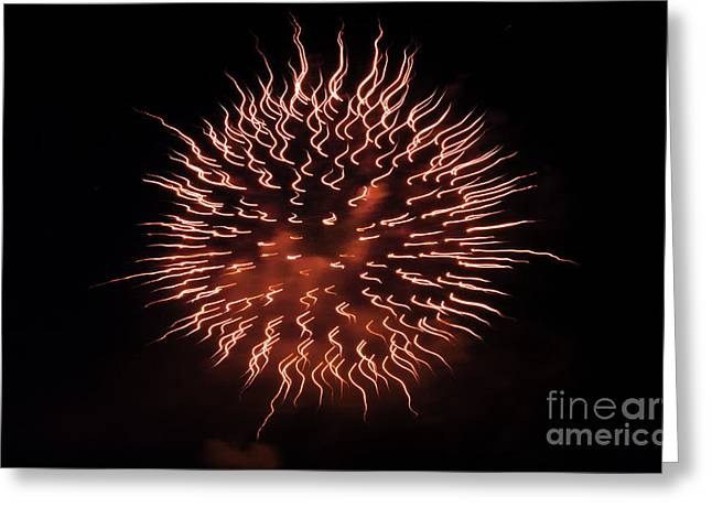 Crush Creations Greeting Cards - Fireworks Abstract 03 Greeting Card by Crush Creations