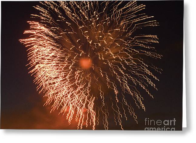 Crush Creations Greeting Cards - Fireworks Abstract 04 Greeting Card by Crush Creations
