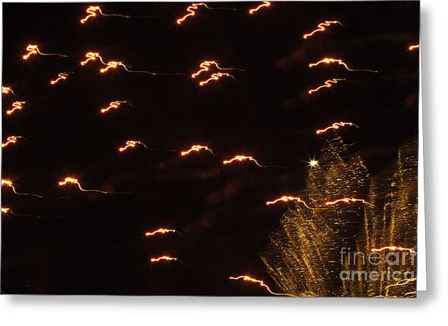 Crush Creations Greeting Cards - Fireworks Abstract 05 Greeting Card by Crush Creations