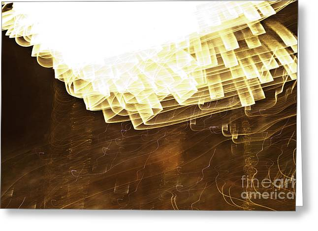 Crush Creations Greeting Cards - Fireworks Abstract 08 Greeting Card by Crush Creations
