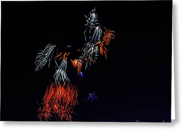 4th July Photographs Greeting Cards - Fireworks Abstract Greeting Card by Robert Bales