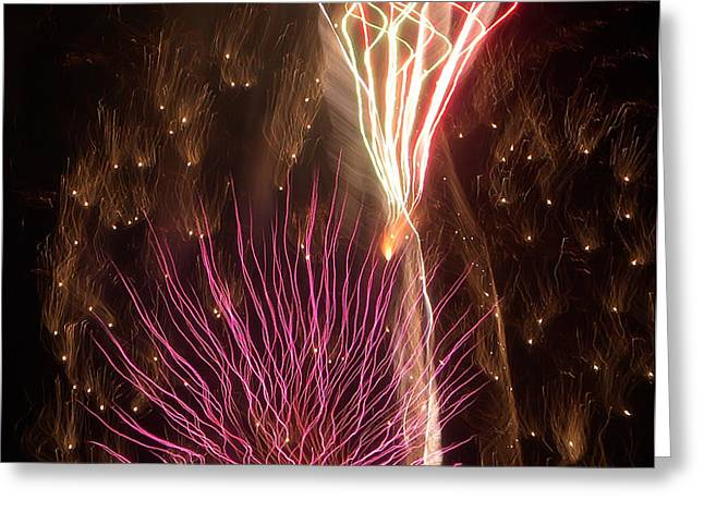 Fireworks Greeting Card by Aimee L Maher Photography and Art